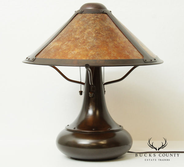 The Mica Lamp Company Arts & Crafts Style Onion Table Lamp