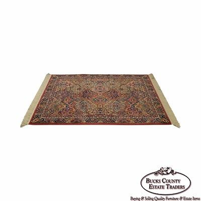 Karastan Multi Color Kirman Panel 4x6 Area Rug Carpet