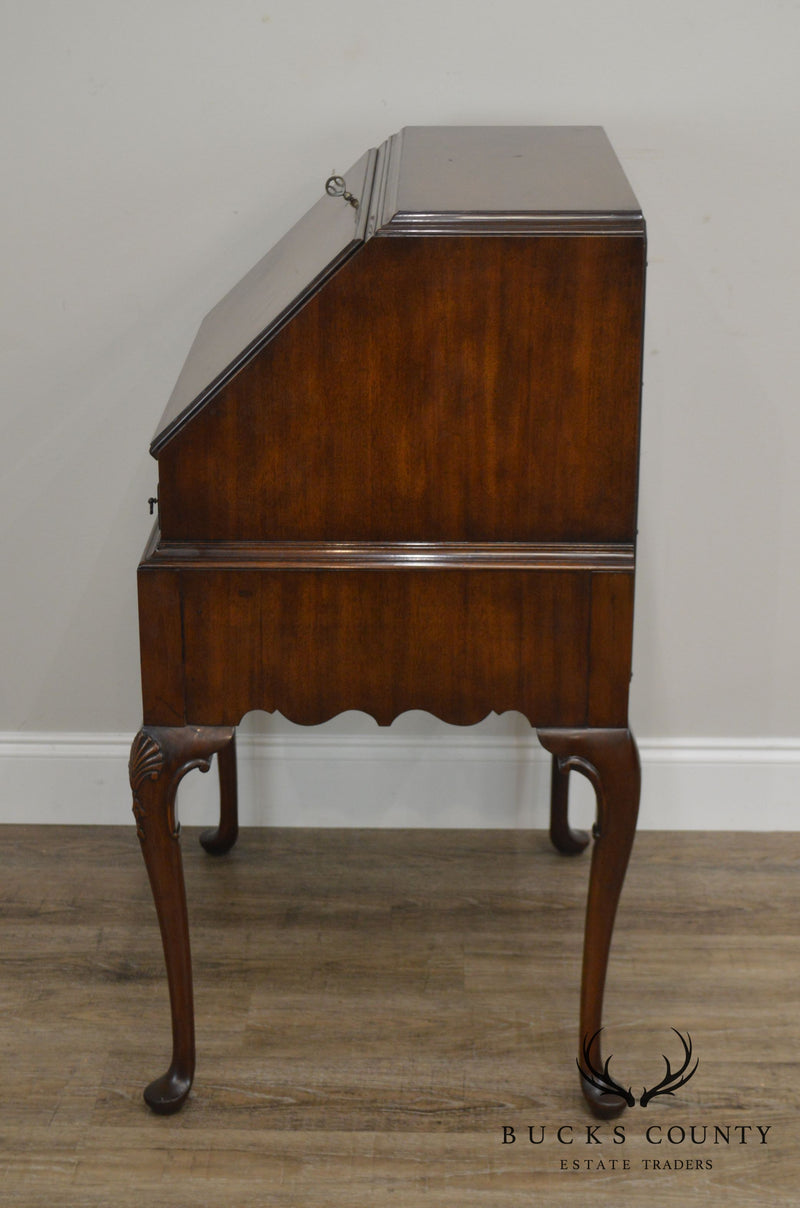 Queen Anne Custom Mahogany Vintage Slant Front Writing Desk