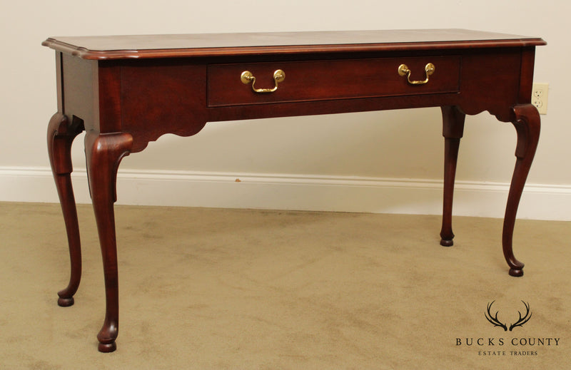 Thomasville Mahogany Collection Queen Anne Style Sofa Table Console