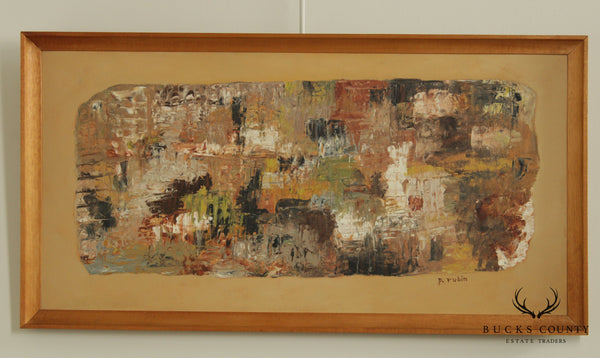 Phyllis Rubin Mid Century Modern Abstract Oil Painting