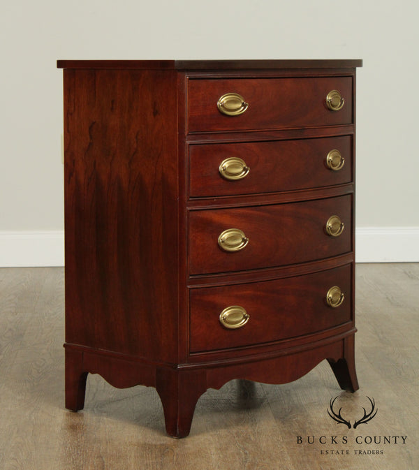 Thomasville Mahogany Collection Hepplewhite Style Bow Front Chest Nightstand