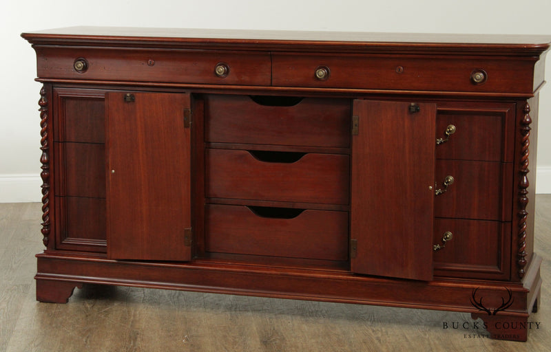 Lexington Vestiges of the Past Victorian Style Mahogany Triple Dresser