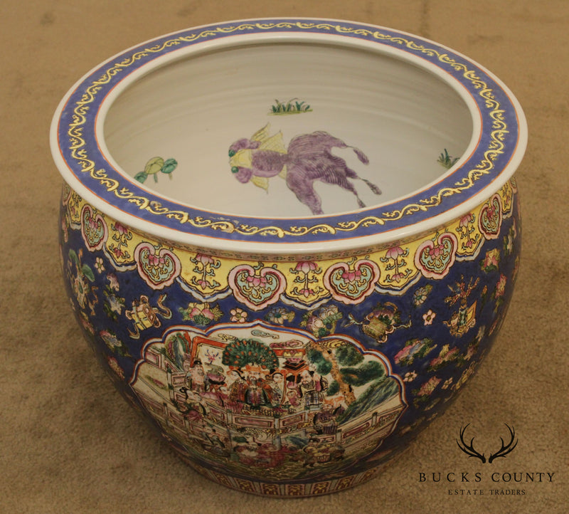 Chinese Porcelain Famille Rose Fish Bowl Planter