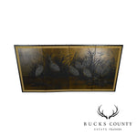 Asian Vintage Folding Screen with Cranes in High Grass