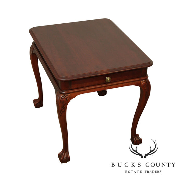 Pennsylvania House Cherry Ball & Claw One Drawer Side Table