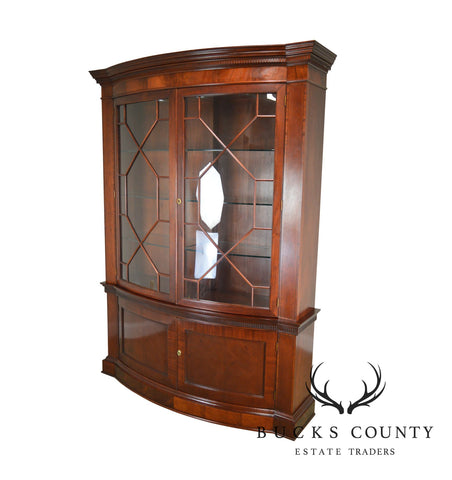 Baker Historic Charleston Collection Large Mahogany Bow Front China Cabinet