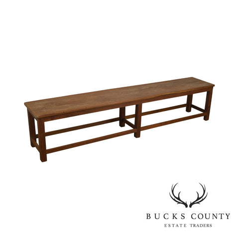 Teak Wood Long Vintage Bench
