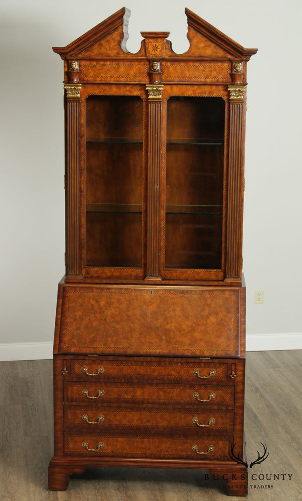 Maitland Smith Monumental Burl Wood Secretary Desk