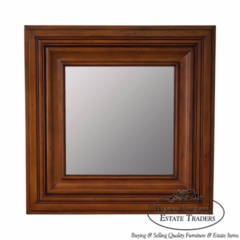 Quality Square Wood Frame Beveled Wall Mirror