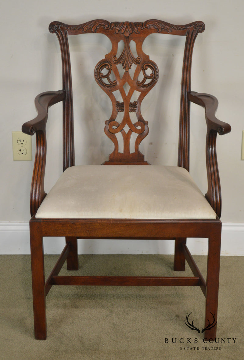 Baker Historic Charleston Collection Mahogany Chippendale Style Armchair