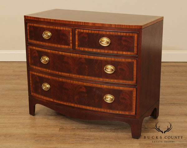 Drexel Heritage '18th Century' Collection Mahogany Bow Front Chest of Drawers