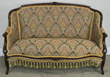 Antique Victorian Mahogany Louis XV Style Loveseat