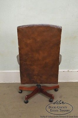 Quality Brown Leather High Back Executive Office Chair (A)