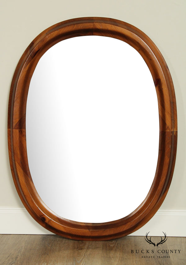 Traditional Oval Pine Wood Frame Wall Mirror
