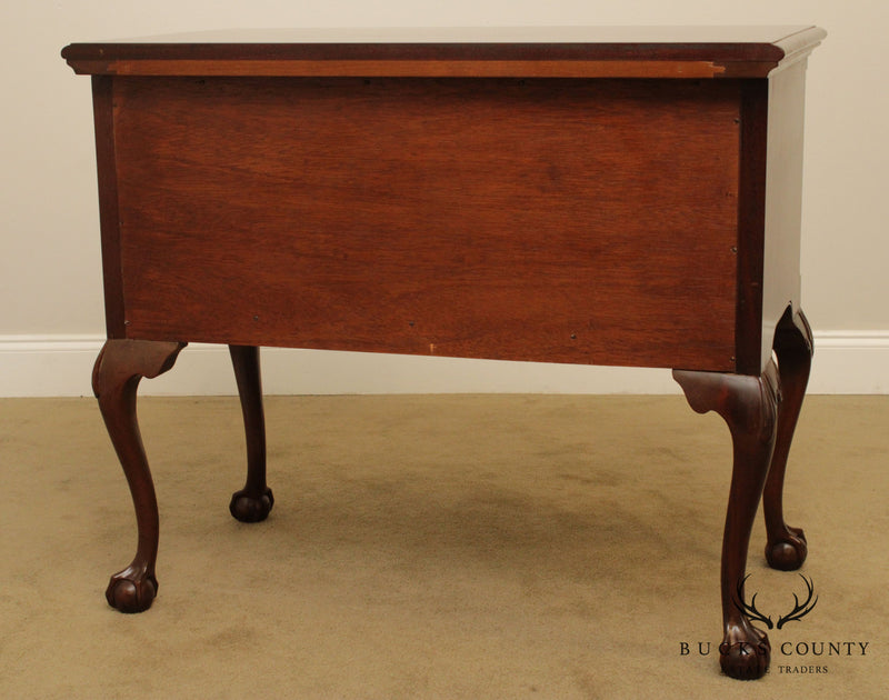 Kittinger Biggs Chippendale Style Mahogany Ball & Claw Lowboy
