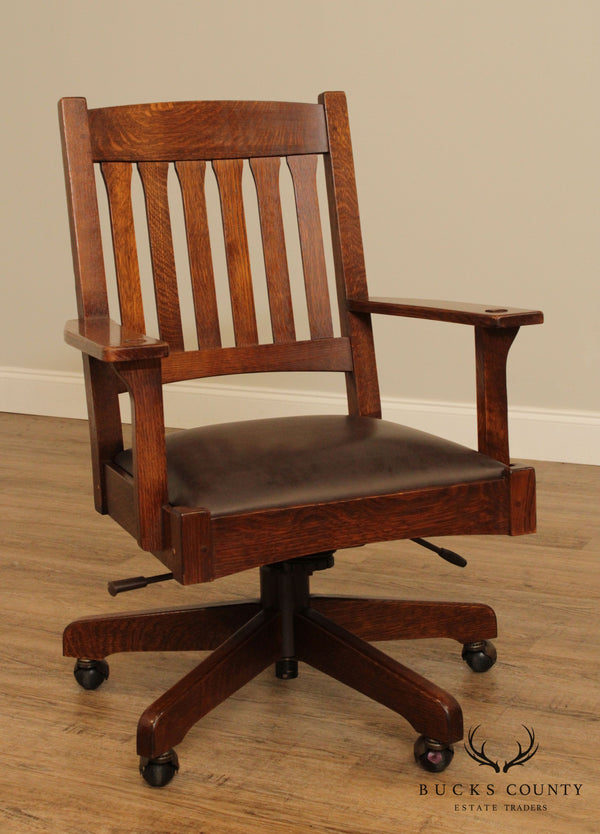 Stickley Mission Collection Oak Desk Chair