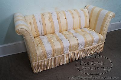 Old Hickory Tannery Upholstered Tufted Settee (B)