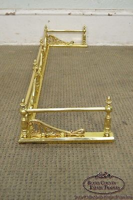 Quality Vintage Brass Fire Place Fender