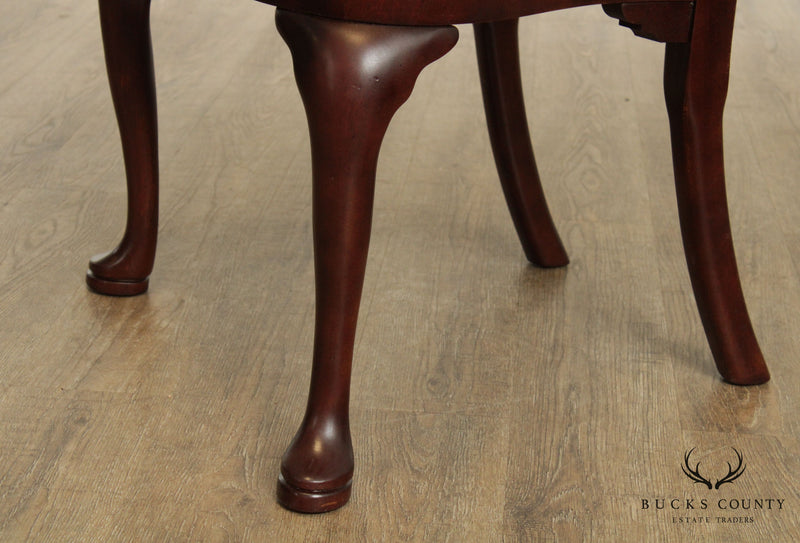 Hickory Chair Mahogany Set 8 Queen Anne Dining Chairs