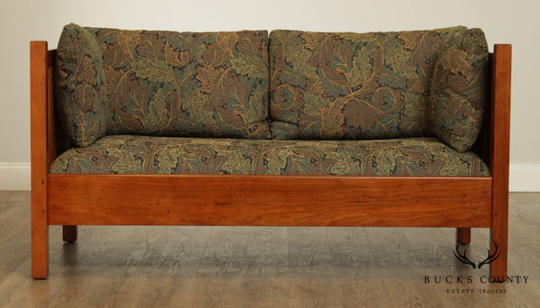 Stickley Mission Collection Cherry Spindle Loveseat