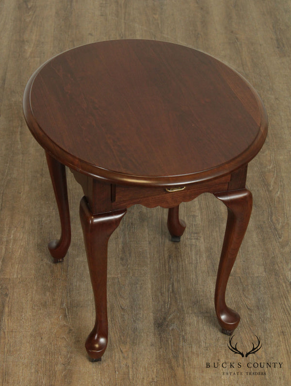 Pennsylvania House Traditional Cherry Queen Anne Style One Drawer Side Table