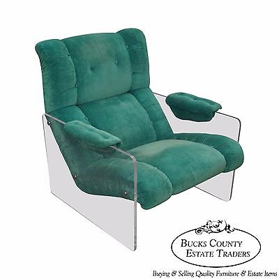 Mid Century Modern Lucite Frame Floating Lounge Chair