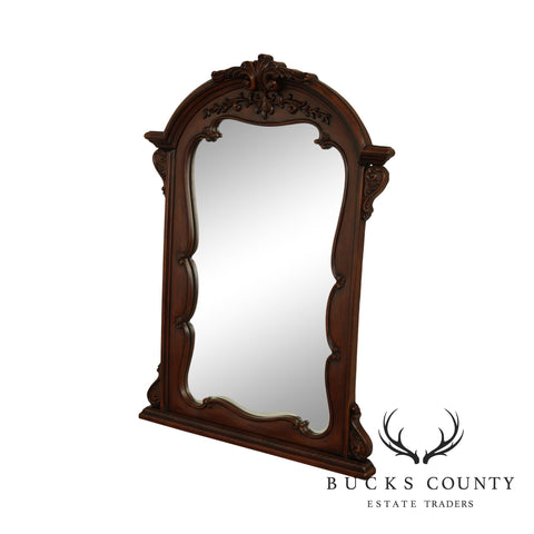 French Louis XV Style Cherry Finish Mirror
