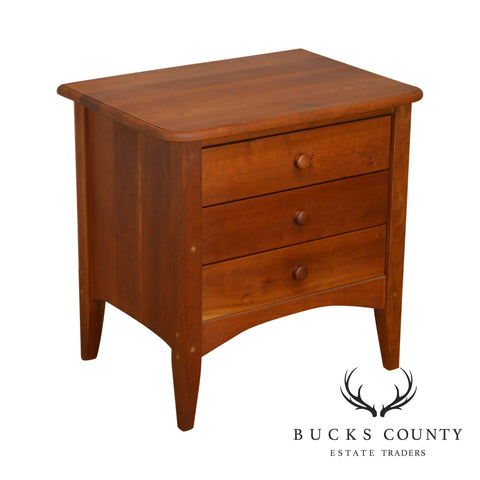 Mission Style Custom Crafted Solid Cherry 3 Drawer Chest Nightstand