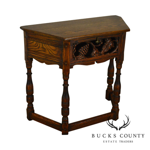 Jameston Lounge Feudal Oak Grapevine Carved Jacobean Style Console Table