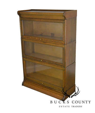 Antique Oak 3 Stack Barrister Bookcase