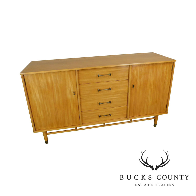 "Milo Baughman for ""New Today's Living"" Mid Century Modern Blonde Sideboard"