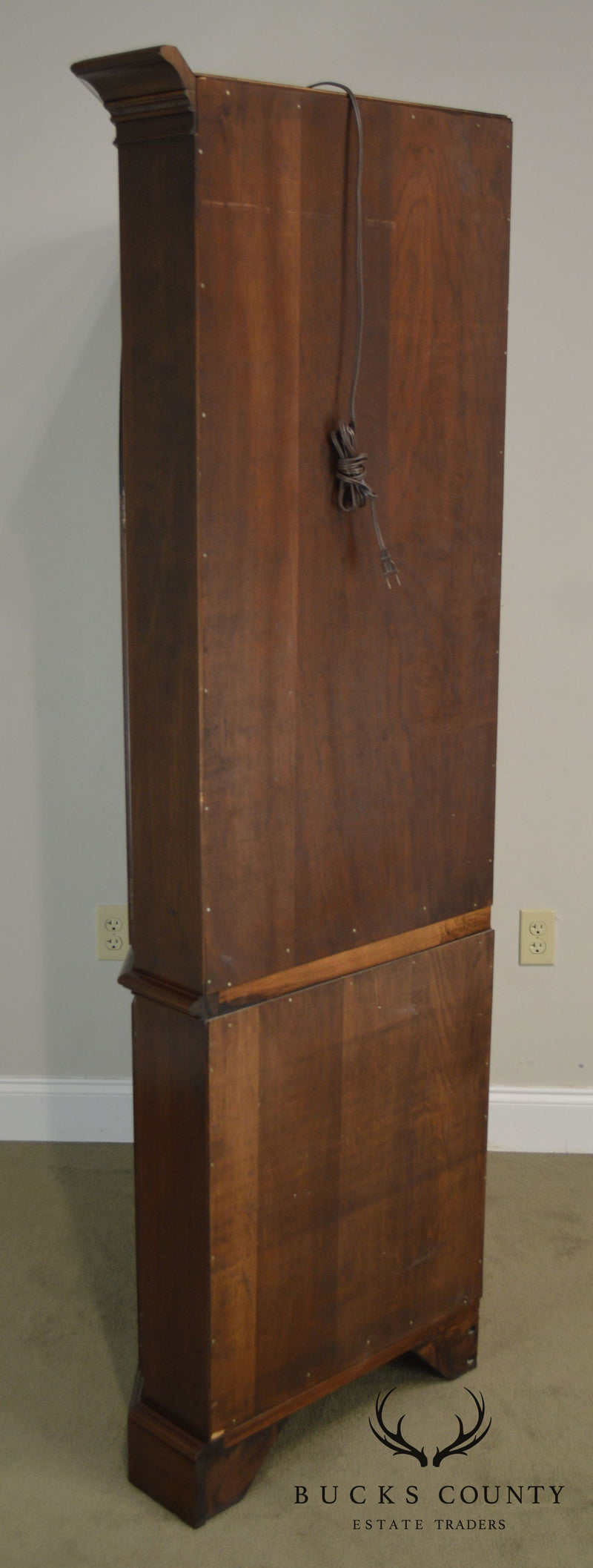 Ethan Allen Georgian Court Cherry Traditional Corner Cabinet