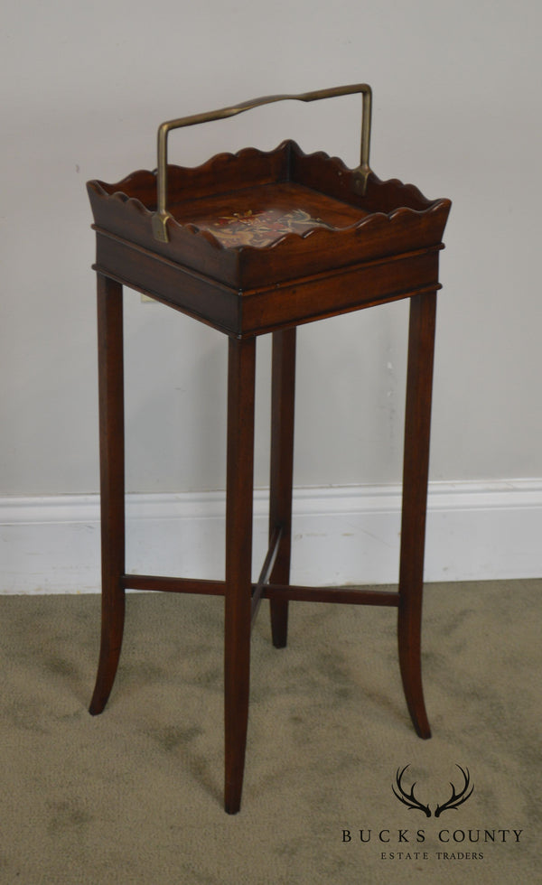 "Theodore Alexander George III Style Mahogany Square Side Table ""The Georgian Butler"""