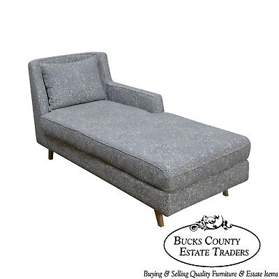 Wewood Custom Upholstered Crafted European Chaise Lounge