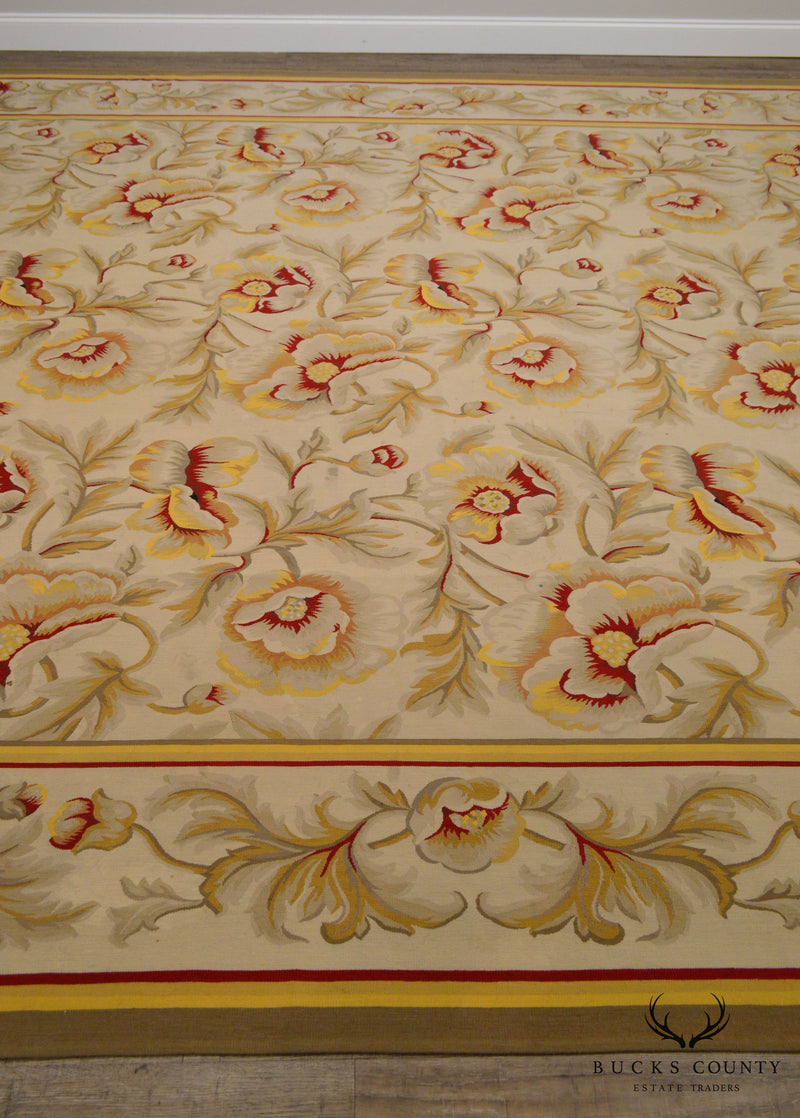Marc Phillips French Accents Hand Woven Large Room Size Aubusson Carpet Rug