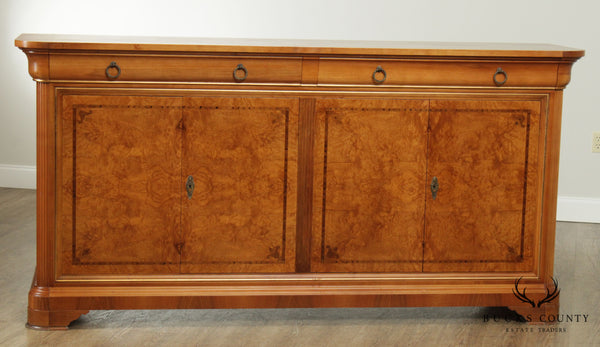 French Louis Philippe Style Cherry & Burl Wood Sideboard