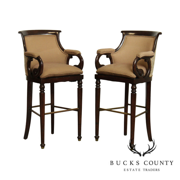 Quality Pair Empire Style Bar Stools
