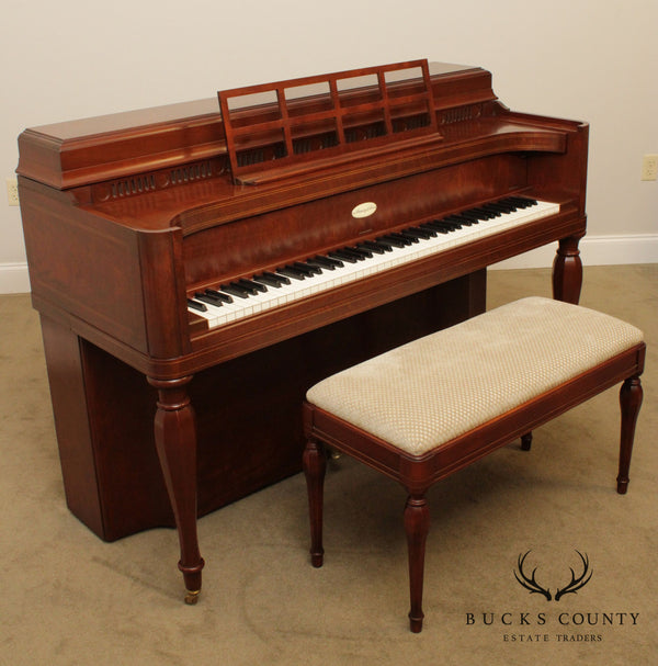 Steinway & Sons Vintage 1963 Mahogany Upright Piano, Model 100