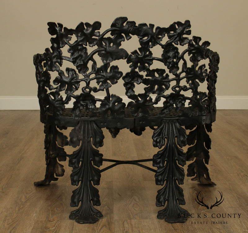 Antique Cast Iron Garden Settee