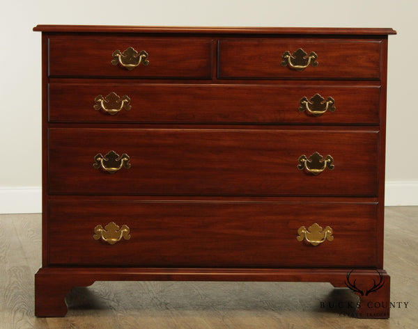 Henkel Harris Cherry Chippendale Style Single Dresser Chest