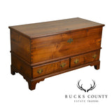American Chippendale Antique 18th Century Walnut Blanket Chest