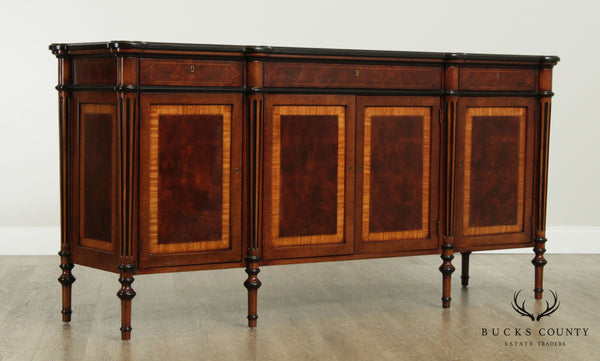 E. J. Victor Regency Style Burl Wood 4 Door Sideboard