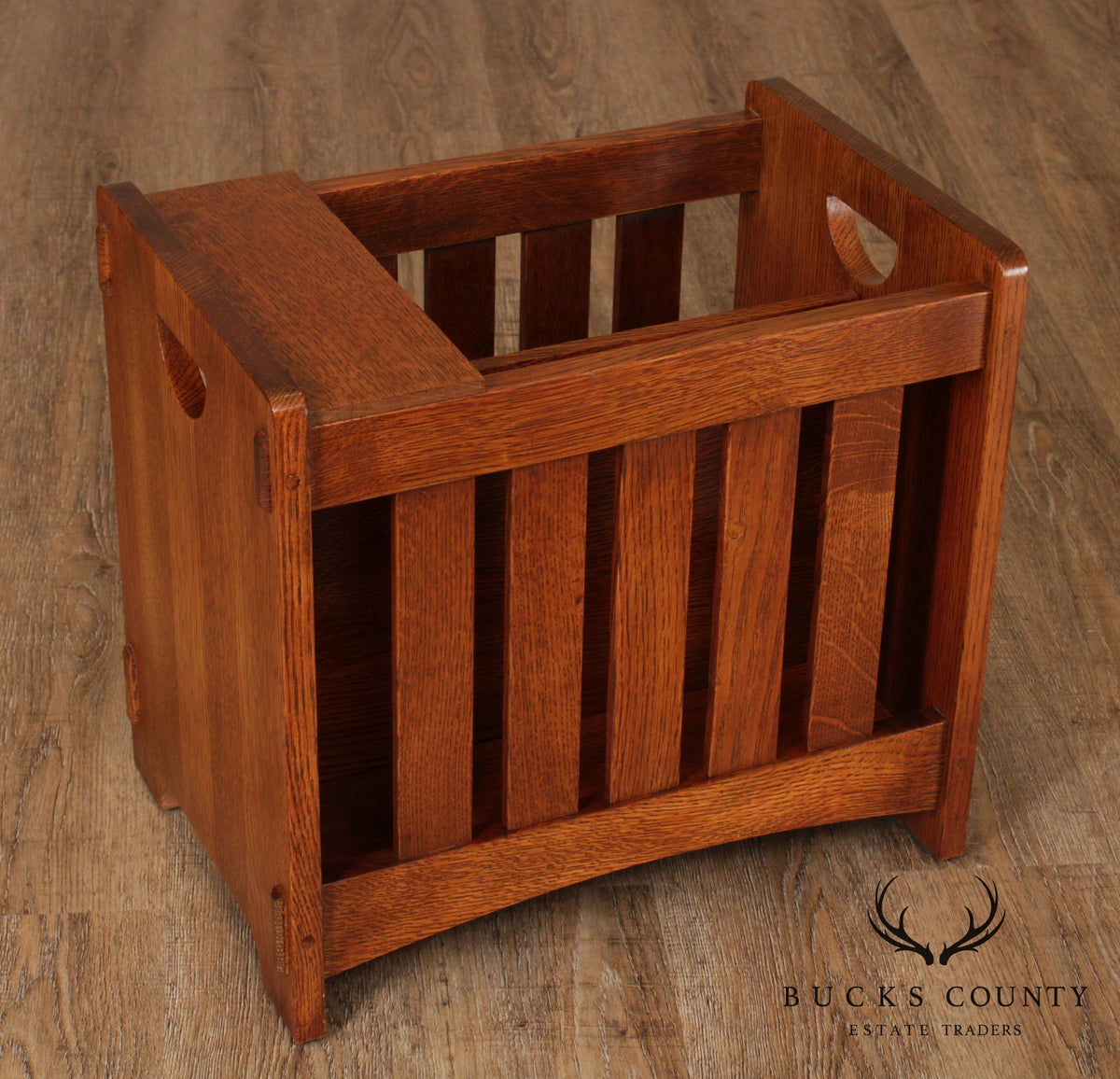 Stickley Mission Collection Oak Magazine Rack Bucks
