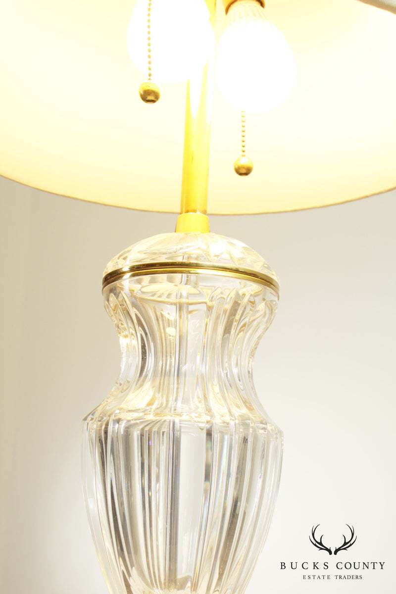 Marbo Crystal and Brass Table Lamp