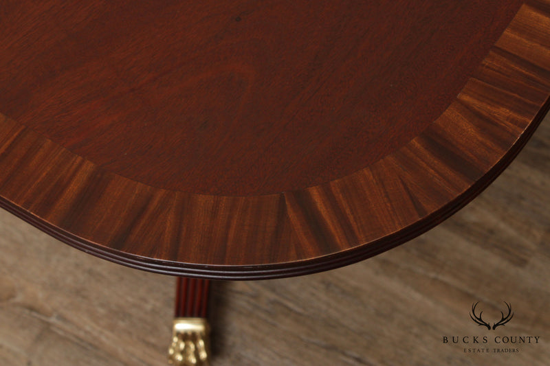 Custom Mahogany Federal Style Banded Dining Table