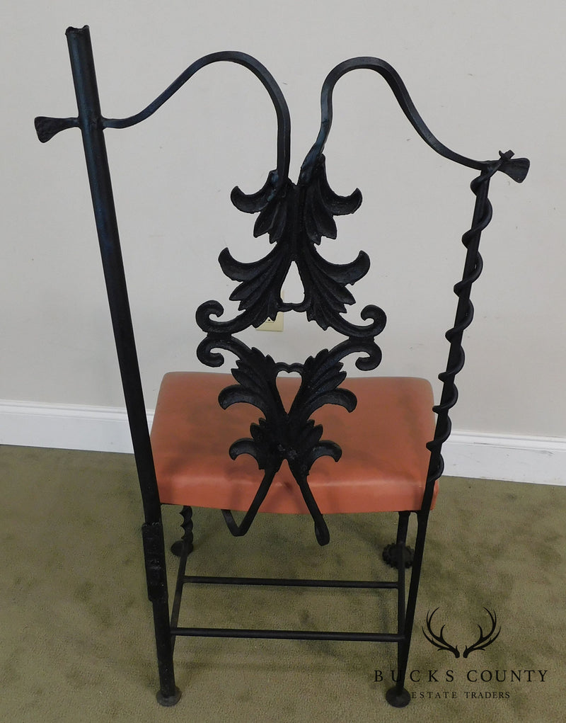 J.W. Zan Hand Forged Reclaimed Iron Chair