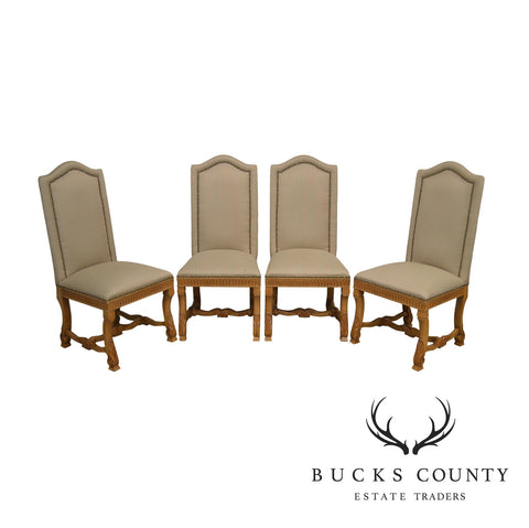 Andre Originals French Country Style Set 4 Upholstered Back Dining Chairs