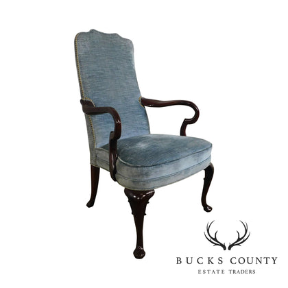 Hickory Chair Vintage Queen Anne Mahogany Armchair