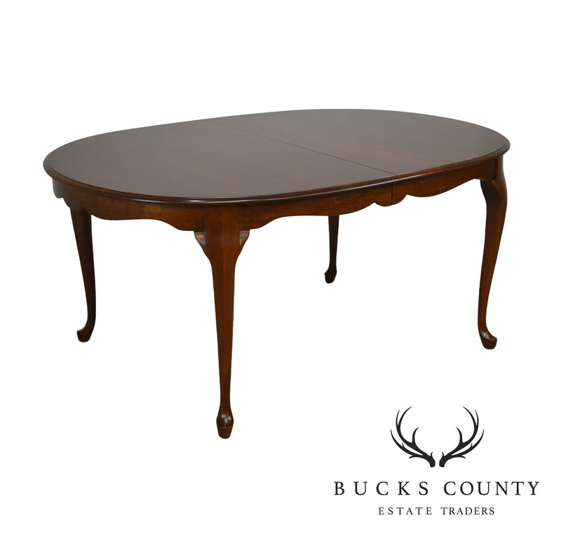 Pennsylvania House Cherry Oval Queen Anne Dining Table With 3 Leaves Bucks County Estate Traders